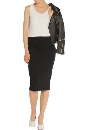 BY MALENE BIRGER Eminnio ruched stretch-crepe pencil skirt