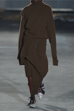 JOSEPH Tie-front wool skirt