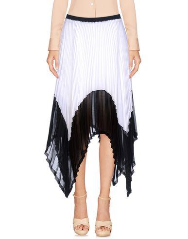 ENZA COSTA Damen Knielanger Rock Weiß Größe 1 100% Polyester