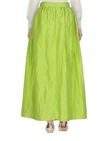Фото 2 - Длинная юбка от ODI ET AMO кислотно-зеленого цвета