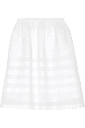 CHINTI AND PARKER Pintucked cotton-voile skirt