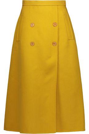 ROCHAS Button-detailed crepe skirt