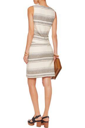 023b1ba324d90 ... TORY BURCH Baja striped wrap-effect cotton-blend knit skirt