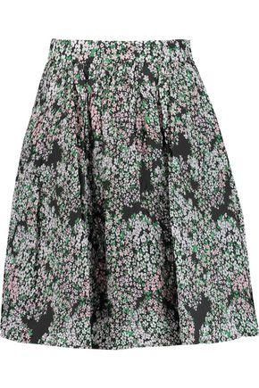 MSGM Floral-print georgette mini skirt