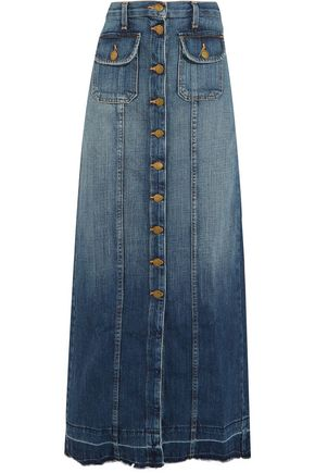 CURRENT/ELLIOTT The Sally denim maxi skirt