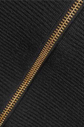 ALICE + OLIVIA Holley zipped ribbed-knit skirt