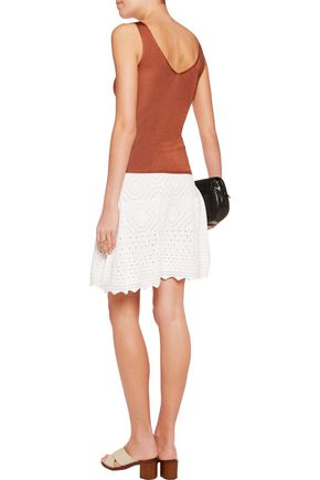 A.L.C. Lydia crochet-knit skirt