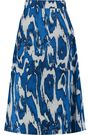MARNI Printed wool and silk-blend crepe skirt