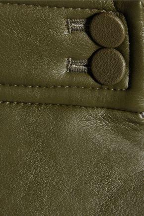 GOEN.J Flared faux leather skirt