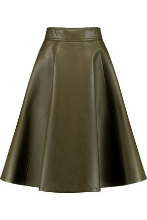 GOEN.J Flared faux leather skirt