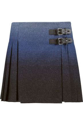 REDValentino Ombré wool-blend felt wrap mini skirt