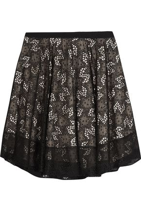 REDValentino Embroidered organza mini skirt