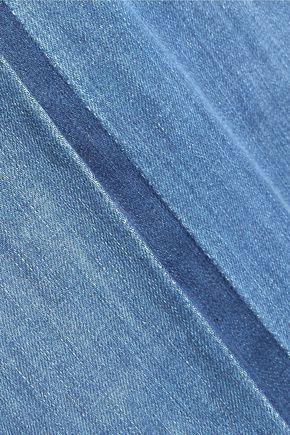 SEE BY CHLOÉ Frayed pleated denim maxi skirt