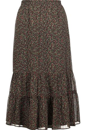 JOIE Cyprine printed silk skirt