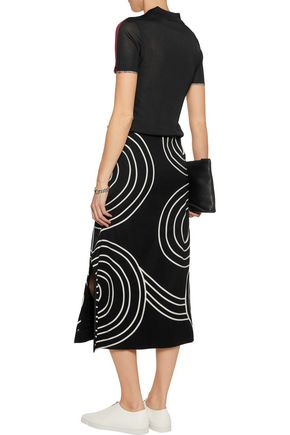 STELLA McCARTNEY Elisha embroidered wool midi skirt