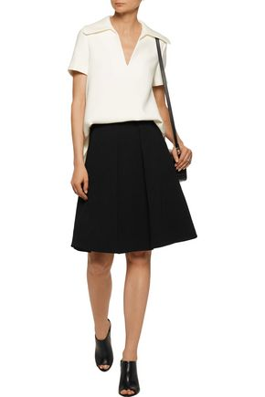 CO Pleated crepe skirt