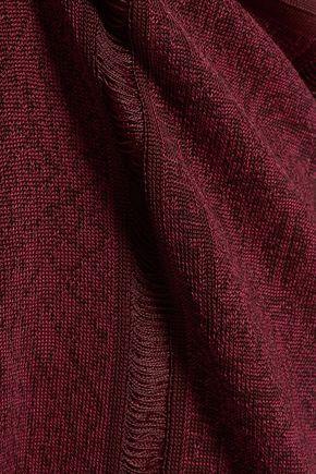 MAISON MARGIELA Frayed paneled knitted skirt