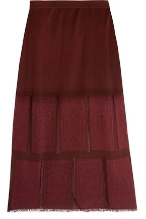 MAISON MARGIELA Frayed paneled knitted skirt