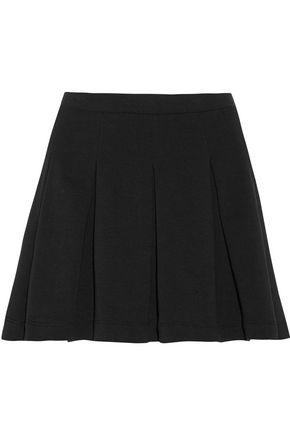 SPLENDID Pleated stretch-jersey mini skirt
