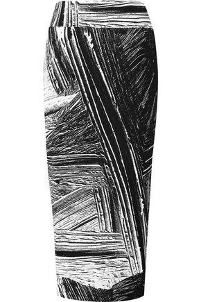 HELMUT LANG Printed stretch-jersey midi skirt