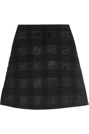 MARKUS LUPFER Embroidered organza mini skirt