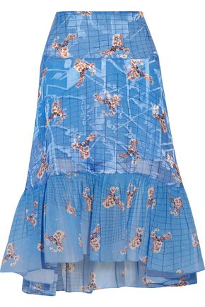 PREEN by THORNTON BREGAZZI Harris paneled printed fil coupé skirt
