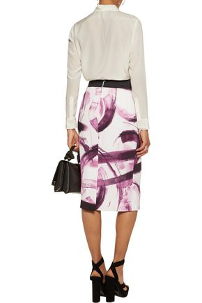 DOLCE & GABBANA Printed ponte pencil skirt