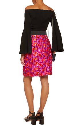 DOLCE & GABBANA Fil coupé satin-twill mini skirt