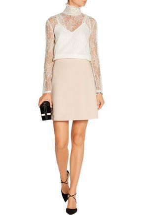 ALEXANDER MCQUEEN Stretch-twill mini skirt