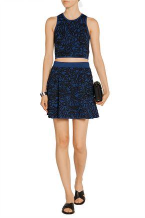 OPENING CEREMONY Intarsia stretch-knit mini skirt
