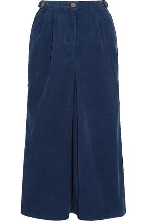 SJYP Cotton-corduroy midi skirt