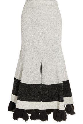 PROENZA SCHOULER Tasseled stretch-bouclé midi skirt