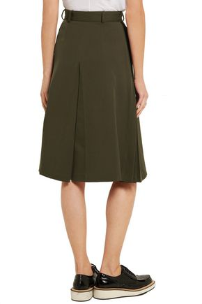 ALEXANDER MCQUEEN Wool and silk-blend twill skirt