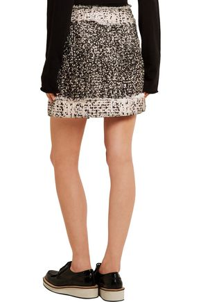 CHRISTOPHER KANE Metallic bouclé-tweed mini skirt