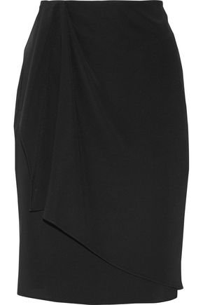 BAJA EAST Asymmetric wrap-effect crepe skirt