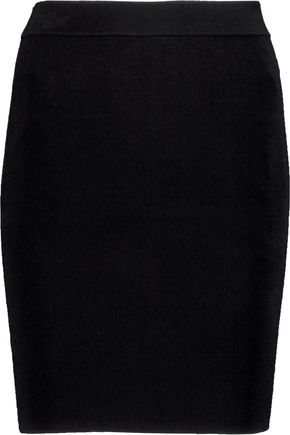 T by ALEXANDER WANG Ribbed stretch-jersey mini skirt