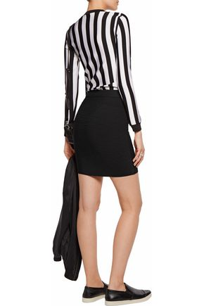 T by ALEXANDER WANG Ribbed stretch-knit mini skirt