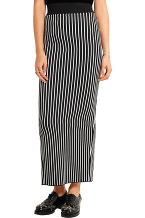CHRISTOPHER KANE Stripes & Flowers stretch-jersey maxi skirt