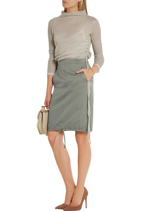 BARBARA CASASOLA Cotton-gabardine pencil skirt