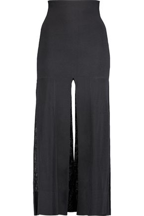 SOYER Split stretch-knit midi skirt