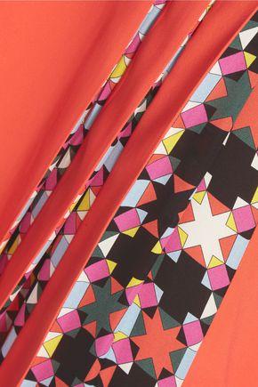 EMILIO PUCCI Pleated crepe maxi skirt