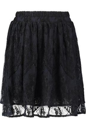 GANNI Pointelle knit mini skirt