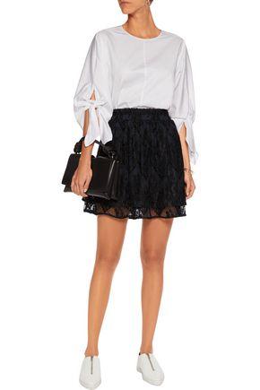 GANNI Pointelle knit mini skirt