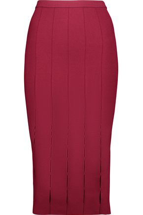 CUSHNIE ET OCHS Cutout stretch-knit skirt