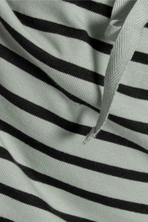 GANNI Striped stretch-cotton mini skirt