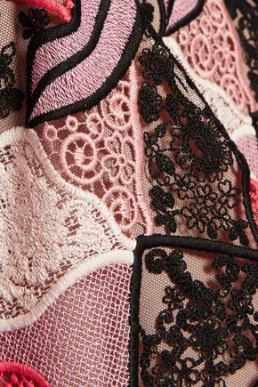EMILIO PUCCI Paneled lace mini skirt