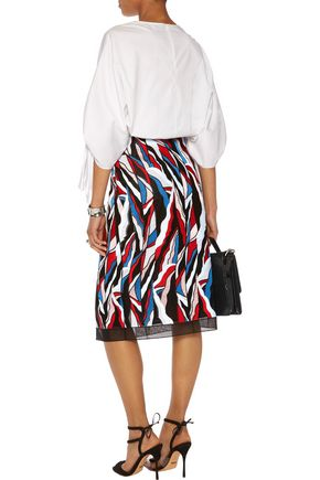 EMILIO PUCCI Embroidered tulle skirt