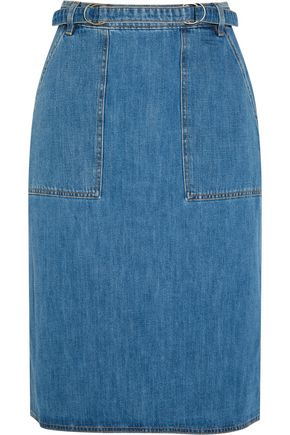 M.I.H JEANS Juno belted denim skirt