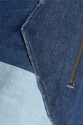 M.I.H JEANS Turo patchwork denim mini skirt