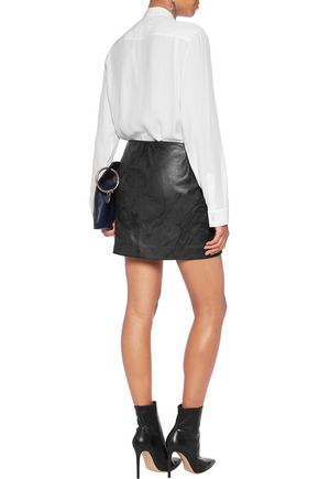 MAISON MARGIELA Laser-cut textured-leather mini skirt